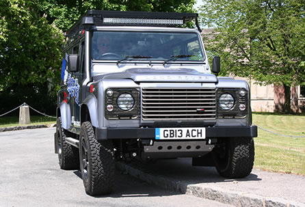 Land Rover Defender 110 riding on full Air Suspension