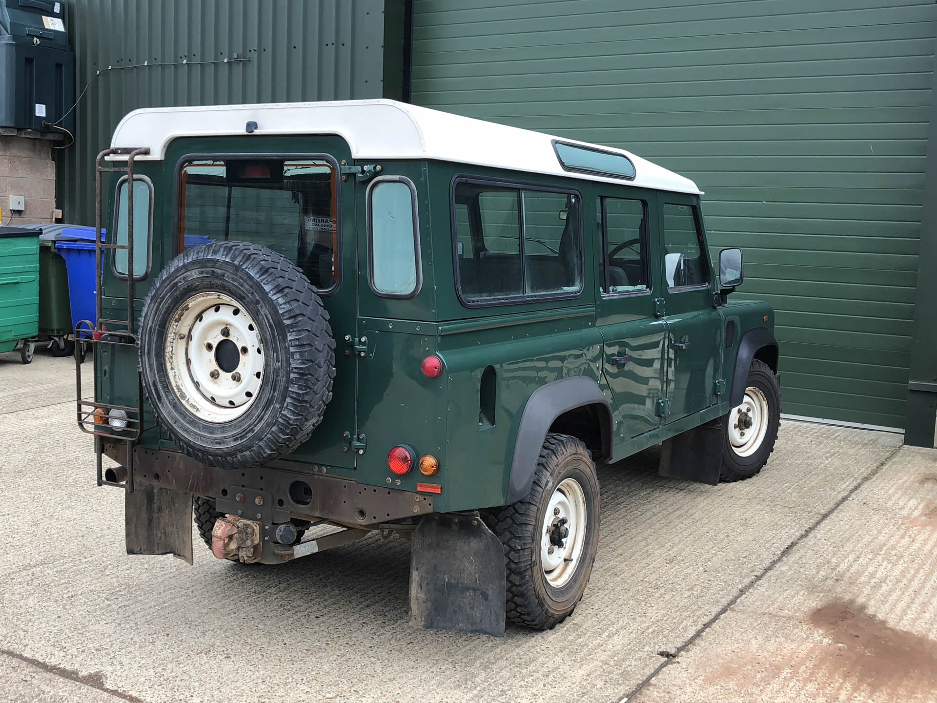 ACHSV custom vehicle builds firstly require a donor vehicle to start the design and build process from like this basic green Land Rover Defender 110.